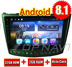 TOPNAVI 32GB Android 8.1 Car Radio for Lexus IS350 IS250 2005 2006 2007 2008 2009 2010 2011 Stereo GPS Navi 10.1Inch Octa Core 2GB RAM WiFi 3G RDS MirrorLink