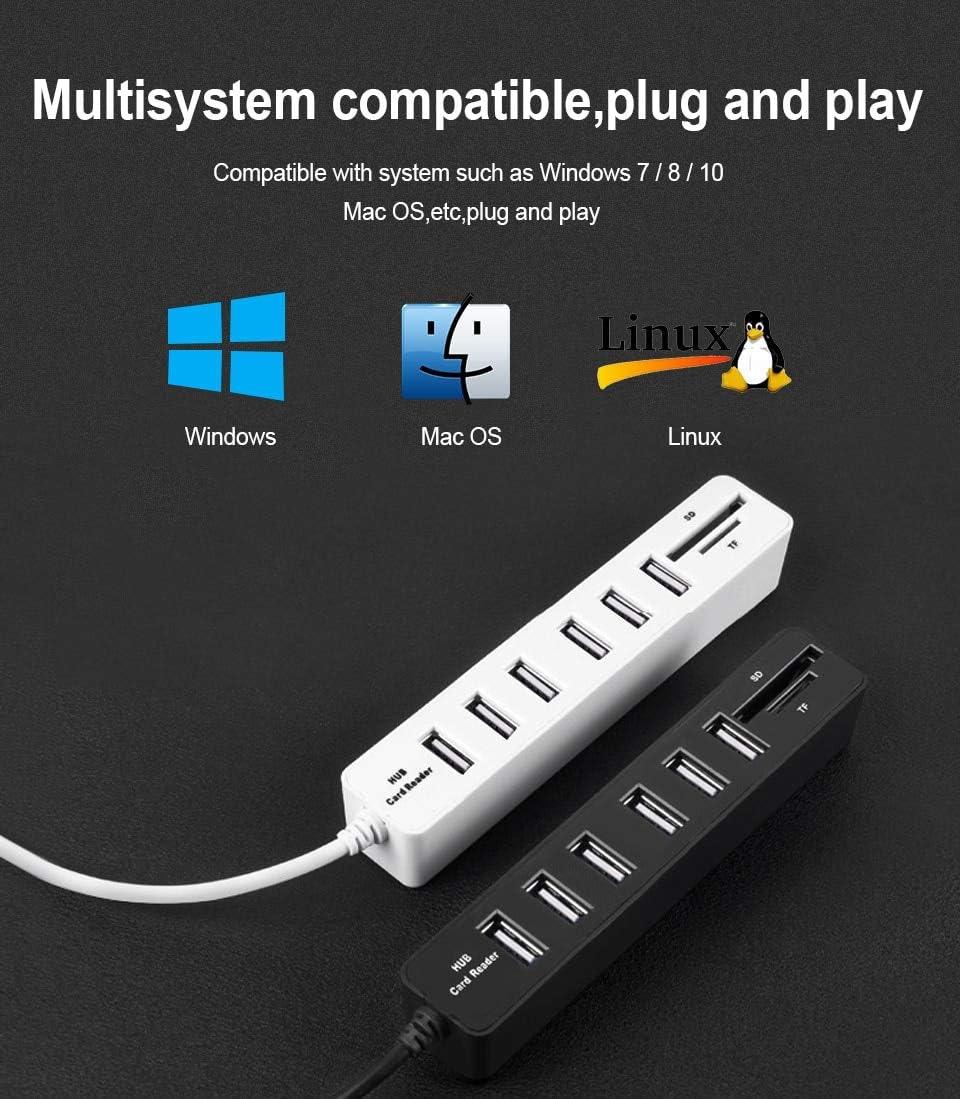 USB Hub 3.0 Multi USB 3.0 Hub USB Splitter High Speed 3 6 Ports 2.0 Hab TF SD Card Reader All in One