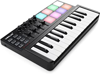 Worlde Panda MINI Portable 25 Keys USB Keyboard MIDI Controller with Colorful Drum Pad