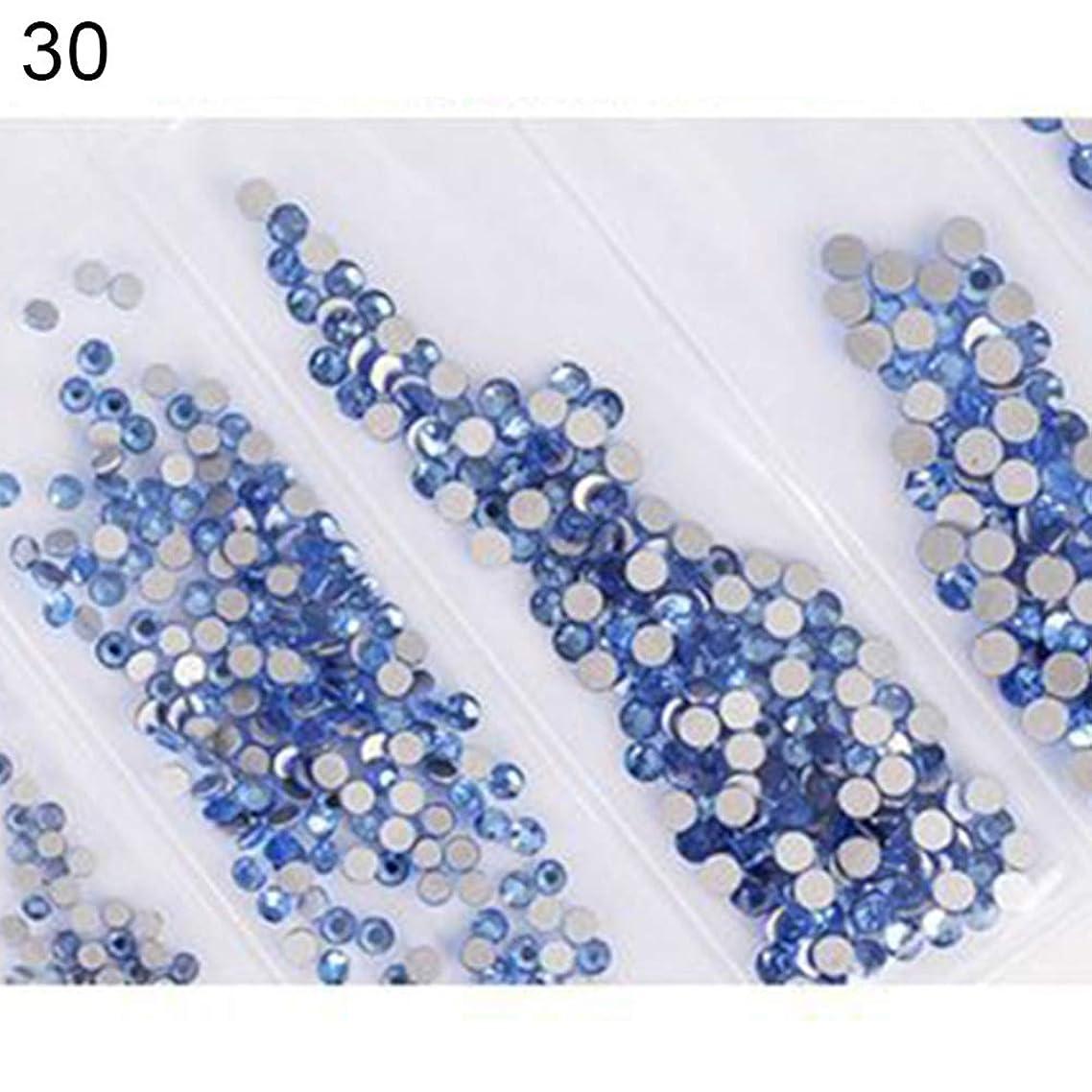多年生吸収剤回復hamulekfae-6ピース光沢のあるフラットガラスラインストーンネイルアートの装飾diyマニキュアのヒントツール 30#