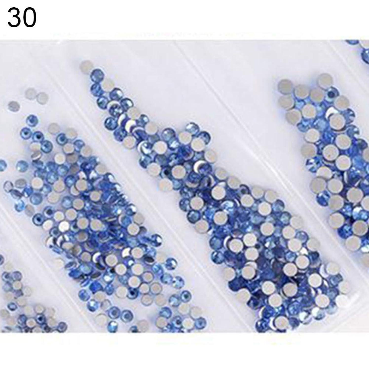 刺します失態頼るhamulekfae-6ピース光沢のあるフラットガラスラインストーンネイルアートの装飾diyマニキュアのヒントツール 30#