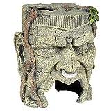 Pet Ting - Statua ornamentale acquatico con volto antico - decorazione per acquario, decorazione vivarium