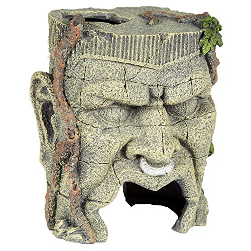 Pet Ting Ancient Face Statue Aquatic Ornament - Aquarium Decoration - Vivarium Decoration