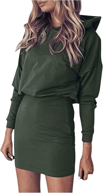 Jasalu Mini Dresses Slim for Women - Solid Color Soft Dresses Ca