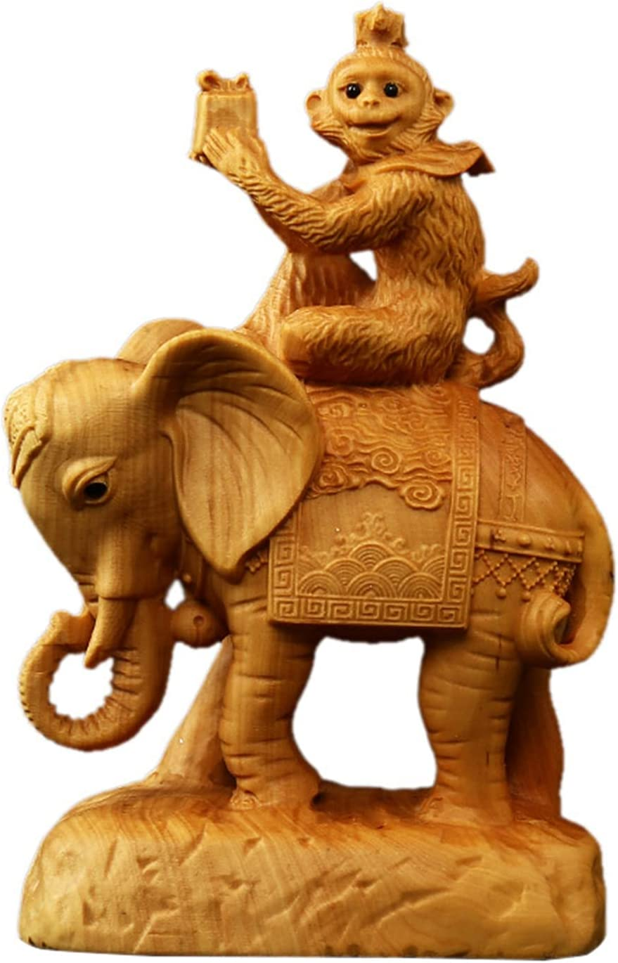 Monkey Sitting On Elephant Statue Chinese Gift Feng Gove to Shui Max Oklahoma City Mall 46% OFF