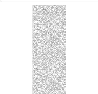 Decorative Privacy Window Film/Antique Floral Motifs Arabian Islamic Art Patterns in Mod Graphic Design Oriental Boho Deco/No-Glue Self Static Cling for Home Bedroom Bathroom Kitchen Office Decor Gray