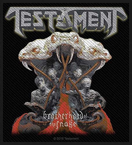 Testament Brotherhood Of The Snake Aufnäher Patch - Gewebt & Lizenziert !!