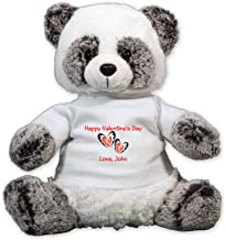 GiftsForYouNow Happy Valentine's Day Personalized Plush Panda Bear