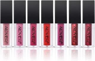 Matte Lipgloss Set, ALIVER 7 Colors Lipstick Set, Long Lasting Lipstick, Waterproof Lipstcik, Nude and Natural Dark Matte Lipstick Non Stick Cup for Lips Makeup, 7 Pack