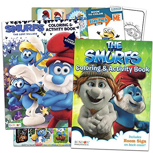 Smurfs Coloring Book Set -- 2 Books…
