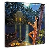 アートデリ ポスター パネル HILO KUME 100cm × 100cm ヒロクメ 日本製 軽量 ファブリック ハワイ ハワイアンhrk-0007-XL