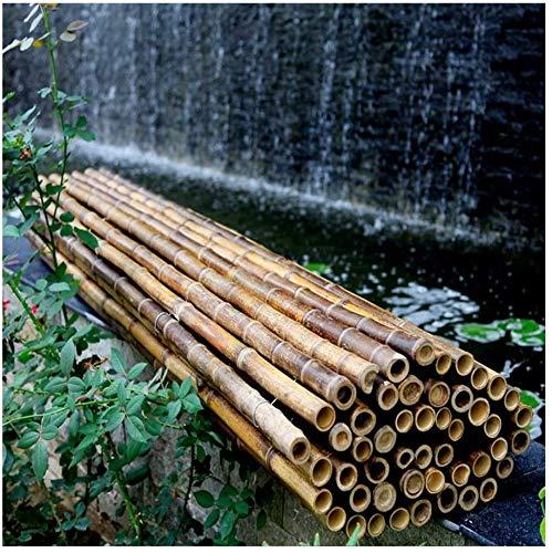 KANULAN Pantalla de privacidad de Valla de bambú Espesor del Tubo de bambú 2.5-2.8cm Parabrisas o Fuente de Sombra a Prueba de Intemperie sin teñirCerca de Jardín