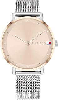 Tommy Hilfiger Womens Analogue Quartz Watch Pippa with Stainless Steel Mesh Band