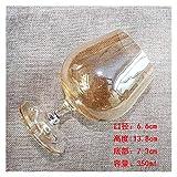 LIZCX YAOQIHAI Cristal Copa Rojo Copa de Vino Modelo de Vidrio Decoración Decorativa Electro-óptica Decoración de Agua Copa Color Copa de Vino Copa de champán (Capacity : 301 400ml, Color : E)