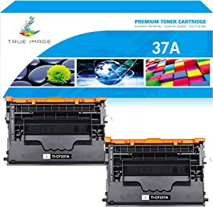 TRUE IMAGE Compatible Toner Cartridge Replacement for HP CF237A 37A Work with Enterprise M607n M607dn M608dn M608n M608x M609 M609x MFP M632 M631 M633fh M631h Printer (Black, 2-Pack)