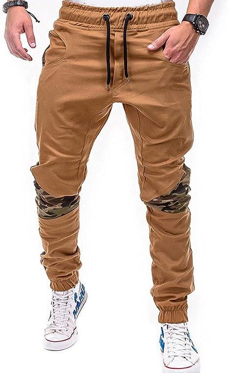 FIRSS M/änner Patchwork Hosen Kordelzug Outdoorhose Mode Elegante Ll/ässig Pants Taschen Jogginghose Tarnung Jeanshosen Basic Winterhose