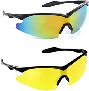 Bell + Howell Tac Glasses + Nightvision Sun Glasses Polarized, Sports Eyewear As Seen On TV