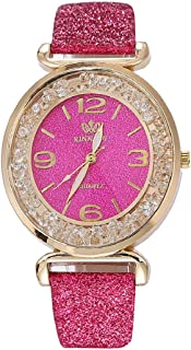 DEESEE(TM) Fashion Women Crystal Stainless Steel Analog Quartz Wrist Watch