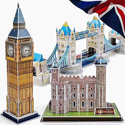 TOY Life 3D Puzzles for Adults and Kids UK Educational Puzzles Architectural Puzzles for Adults product image