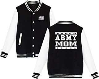 Proud Army Mom Unisex Baseball Uniform Jacket Sweatshirt Sport Coat