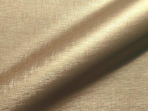 Lederhandel.com Piel sintética ignífuga Sydney 309, color dorado, tela de tapicería adecuada para el salón y el área de objetos.