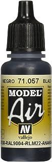 Vallejo Model Air 17 ml Acrylic Paint - Black