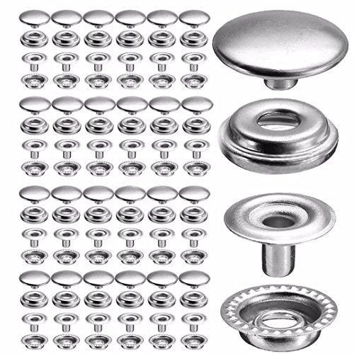 100 piezas de broches de cobre para prensa de 25 broches de botón de cuero herramienta de ropa