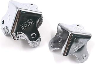 "Karcy Metal Corner Protector Silver 1.2"" Iron Tool Box Corner Protectors Set of 12"