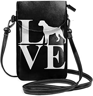 Small Crossbody Bags Love Boxer Dog-1 Cell Phone Purse With Credit Card Slots Wallet Shoulder Bag For Women And Teen Girls