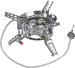 Bulin 6800W/5800W/3800W Windproof Camping Gas Stove Burner for Backpacking Hiking, Portable Lightweight Outdoor Fold Propane Camp Stove with Piezo Ignition, Heavy Duty Support Up to 75KG