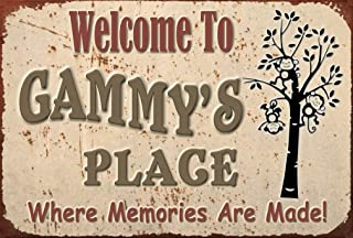 Pet Project Novelty Signs Welcome to Gammy's Place Where Memories - 9 inch by 6 inch MDF Composite Wood Novelty Sign Ships from Cornwall, Ontario, Canada. Comes with a Cord Attached. Home Decor