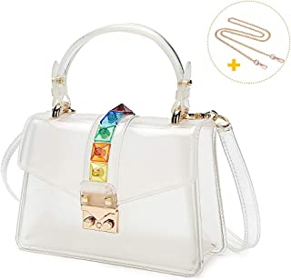 Clear Handbags for Women, Coromay Clear Crossbody Bag with Two Straps for Different Styles, Clear Purse with Premium Material and Cute Design 7.9x2.9x5.1 inch