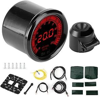 EBTOOLS Kraftstoffverhältnisanzeige Kit, 52 mm schwarz 7 Farben Zeiger Luft/Kraftstoffverhältnis Anzeige Auto Auto Instrument Zubehör