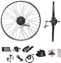 YOSE POWER Ebike ombouwset 28 inch, achterwiel 28 inch 36 V 350 W, elektrische fiets conversie kit 28 inch (700C) voor sch...