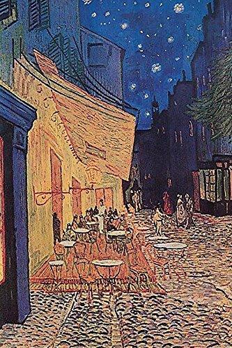 Close Up Caféterrasse am Abend Kunstdruck (40cm x 50cm)