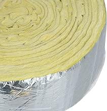 Home Intuition - Envoltorio de aislamiento de tuberías de fibra de vidrio laminado de 25 pies, 7,6 cm de ancho x 2,5 cm de grosor
