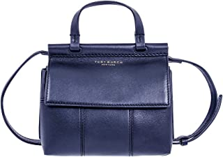 Tory Burch T Mini Ladies Royal Navy Leather Satchel 36777-403