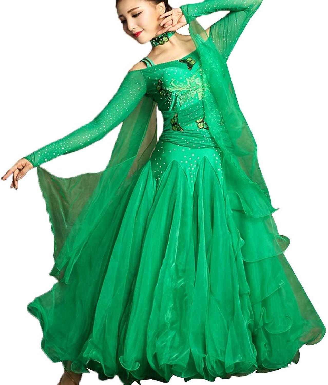 Ballroom Tanz Kleider für Frauen Flamenco Walzer Tango TanzKostüme Wettbewerb Kleid Great Swing modern Performance Rock