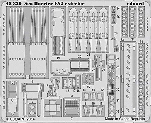 Eduard Photoetch 1:48 - Sea Harrier FA2 Exterior (KIN48041)