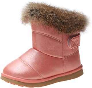 YIBLBOX Snow Boots for Boys Girls Toddler Waterproof Hiking Outdoor Ankle Faux Fur Lined Winter Boots