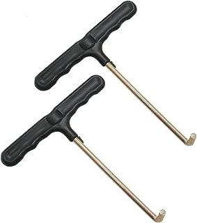 Buorsa 2 Pcs Spring Pull Tool Trampoline Spring Pull Tool T hook Tool