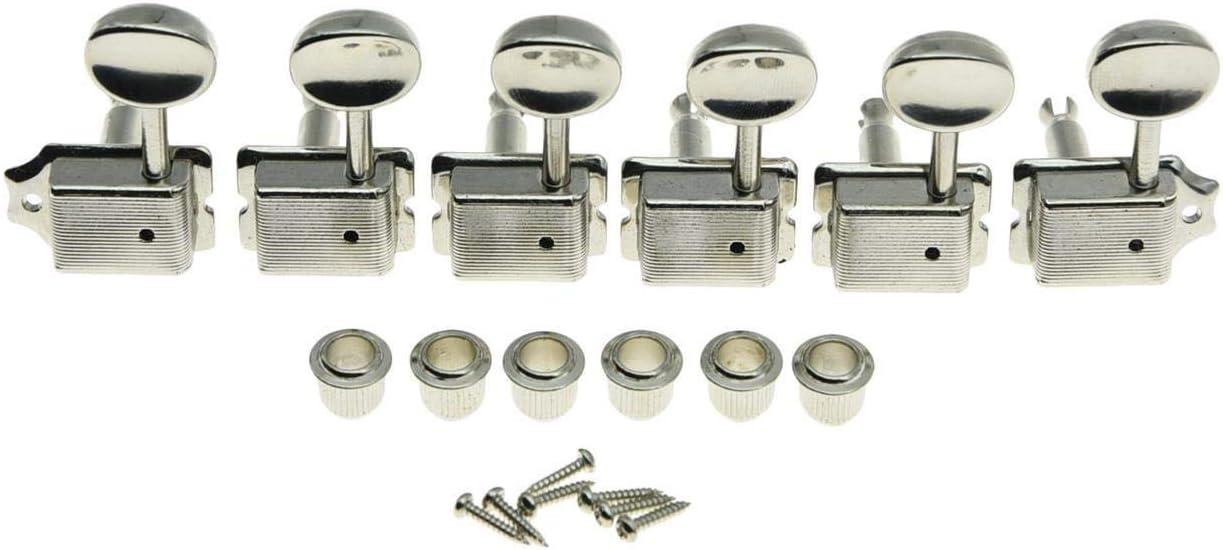 New product type KAISH Nickel Lefty Split Shaft Vintage Keys Tuning L Pegs Guitar Regular store