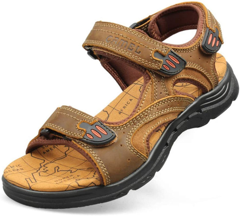 TD S83147 Sandals Men Breathable Beach Sandals (color   Khaki, Size   EU44 UK10 CN46)