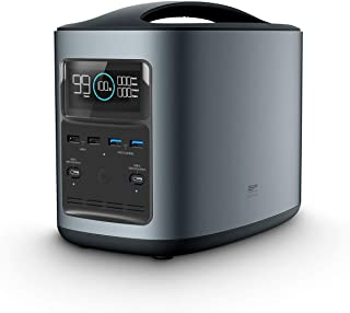 ECOFLOW R500 ポータブル電源 大容量 112000mAh 403Wh 純正弦波 AC 500W出力 (瞬間最大1000W) PD USB-C 入力/出力同時使用可能 家庭用 最大9デバイス同時出力可能 予備電源 バックアップ PSE...