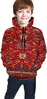 Cyloten Kid's Sweatshirt Persian Mashad Hoodie Teen's Thicken Sportswear Fleece Hood for Fall-Winter
