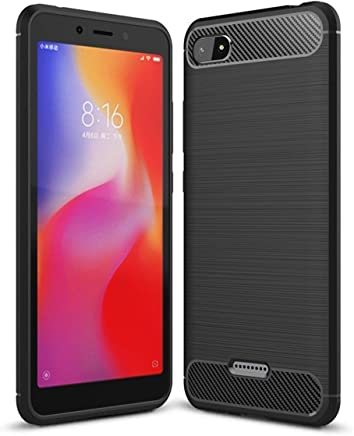 Bracevor Flexible Shockproof TPU | Brushed Texture Back Case Cover Xiaomi Redmi 6A - Black