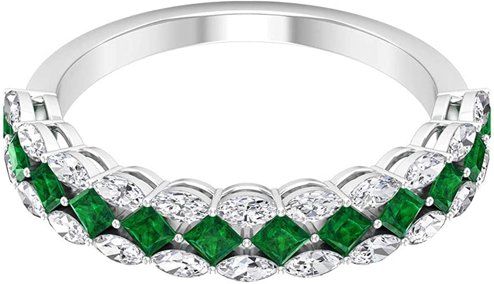 1.02 CT Emerald Moissanite Ring Marquise Max Popular brand 90% OFF Engagement