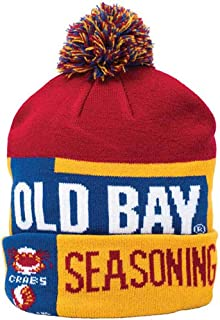 Old Bay Can Pom Hat Seasoning Winter Beanie Cap Crab Seafood Spice Gift