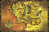 The Lord Of The Rings - Giant Movie Poster - Map Of Middle Earth (Size: 53'' x 39'')