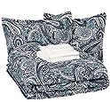 Amazon Basics 8-Piece Ultra-Soft Microfiber Bed-In-A-Bag Comforter Set